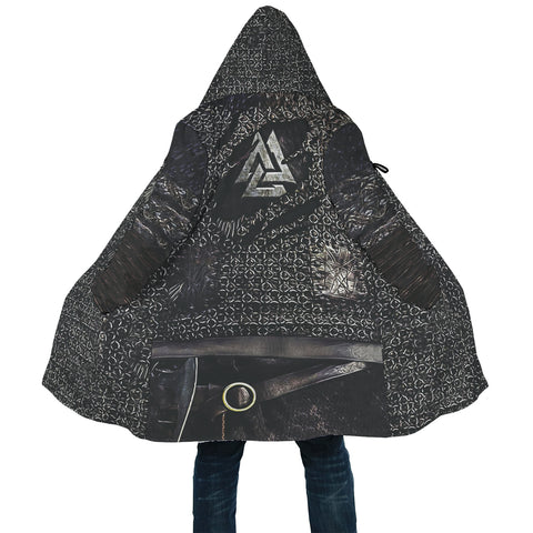 1stIceland Viking Hooded Cloak, Valknut Ragnar Raven TH0047 - 1st Iceland