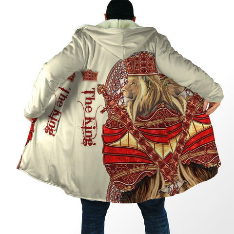 Image of 1stIceand King Lion Red Hooded Cloak