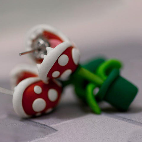 Piranha Plant Earrings TH19 - 1st Iceland