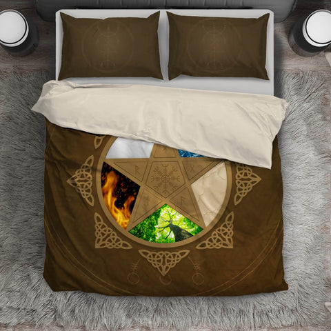 1stIceland Viking Bedding Set, Pentagram Pentacle Helm Of Awe NN4 - 1st Iceland