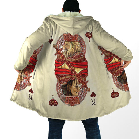 Image of 1stIceand King Hearts Lion Poker Hooded Cloak