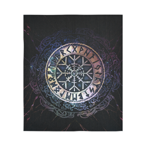1stIceland Viking Tapestry , Helm Of Awe Runes Circle A7 - 1st Iceland