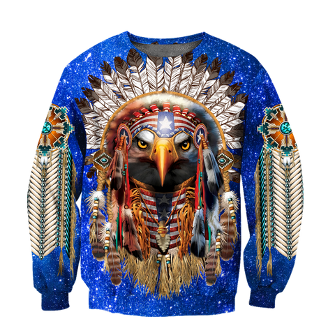1st Iceland Eagle Native American Blue Galaxy T-Shirt