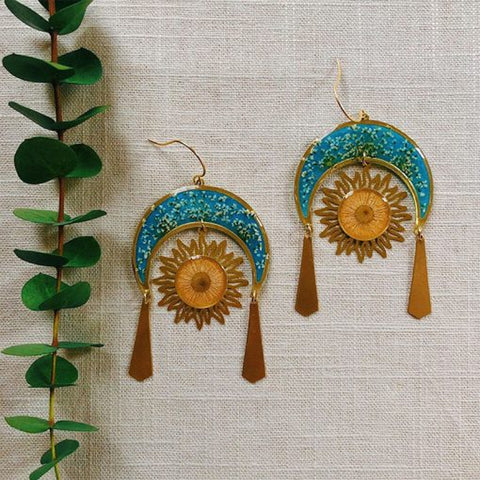 Image of Celestial Sun and Moon Earrings - 1st Iceland