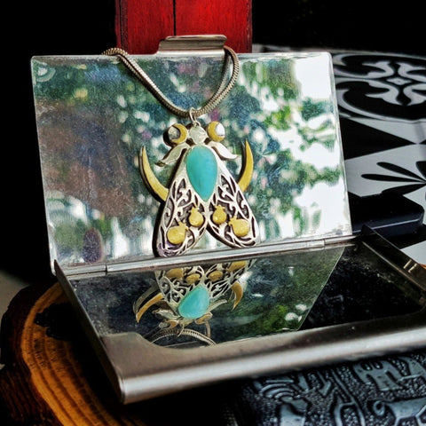 The High Priestess Tarot Moth Necklace TH10 - 1st Iceland