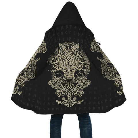 Image of 1stIceland Viking Wolf Fenrir Poker Hooded Cloak TH12 - 1st Iceland
