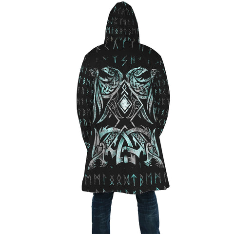 1stIceland Viking Hooded Cloak Raven Moon Tattoo | 1stIceland.com