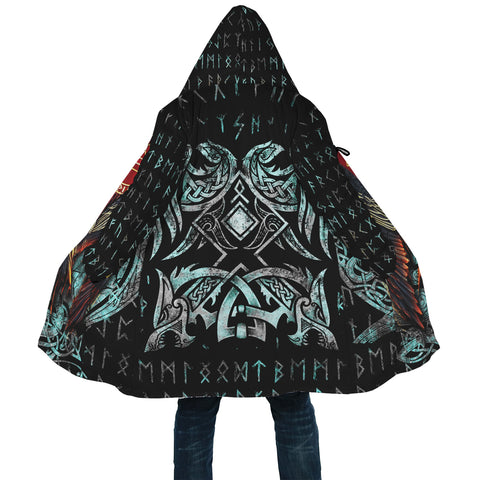 1stIceland Viking Hooded Cloak Raven Moon Tattoo TH12 - 1st Iceland