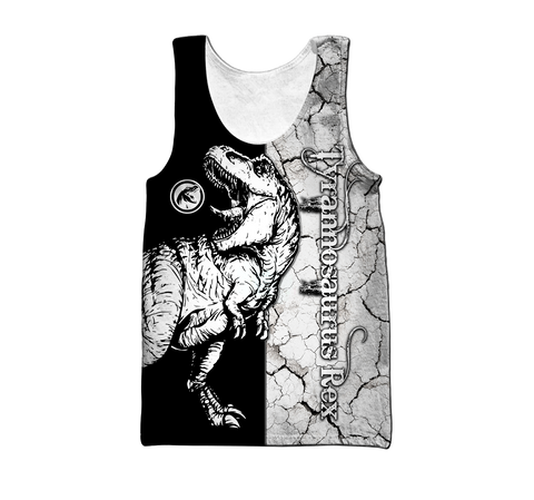 1stIceland Dinosaur Men's Tank Top Tyrannosaurus TH12 - 1st Iceland
