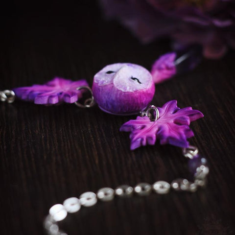 Violet Owl Necklace TH19