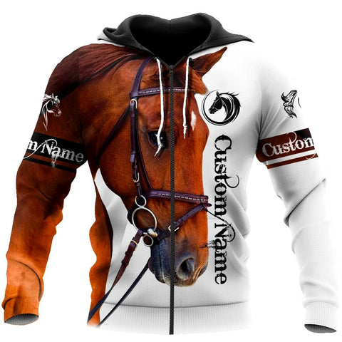 (Custom) 1stIceland Horse Zip Hoodie TH12 - 1st Iceland
