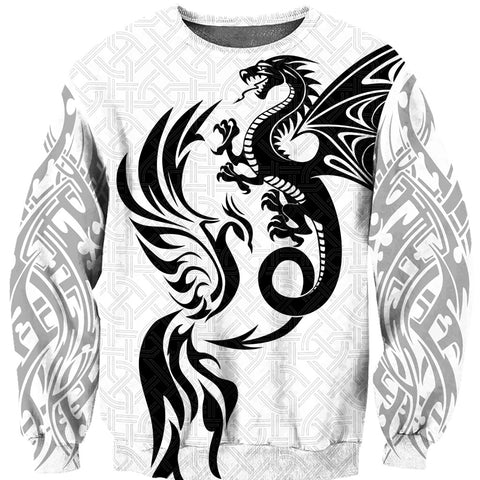1sticeland White Dragon And Phoenix Sweatshirt TH12 - 1st Iceland
