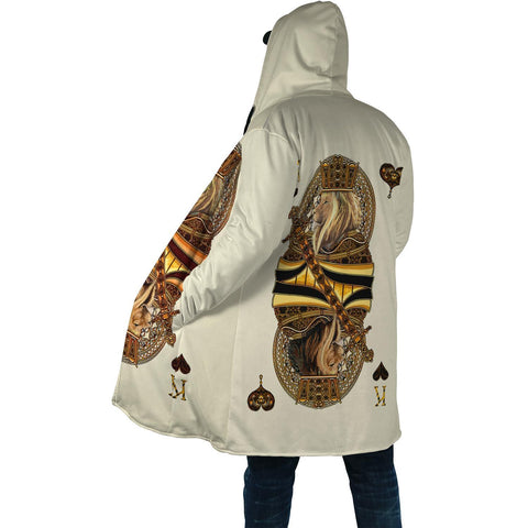 1st Iceland Yellow King Heart Lion Poker Hooded Cloak TH12