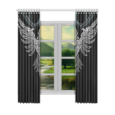 1stIceland Viking Window Curtain, Raven Th00 - 1st Iceland