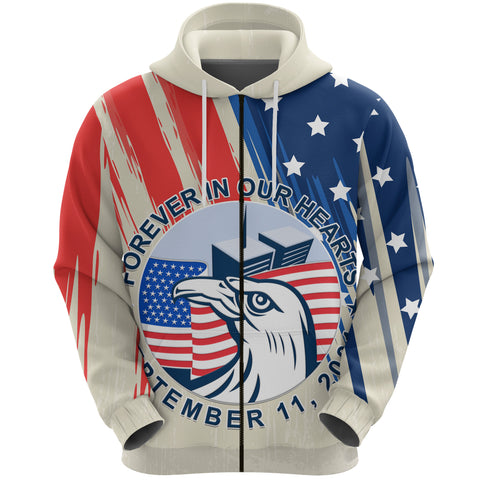 1stIceland American Firefighters Sacrifice 9.11.01 Zip Hoodie K8 - 1st Iceland