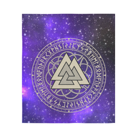 1stIceland Viking Tapestry, Valknut Runes Circle A7 - 1st Iceland
