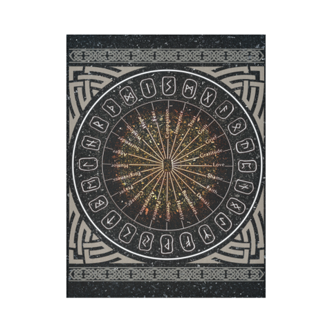 1stIceland Viking Tapestry , Circle Of Healing Runes A7 - 1st Iceland