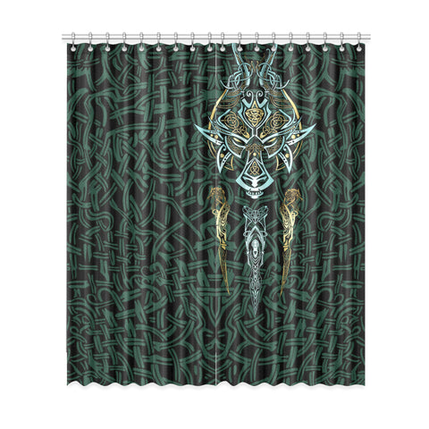 1stIceland Viking Window Curtain, Fenrir The Vikings Wolves Th00 - 1st Iceland