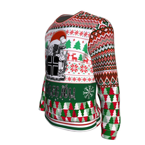 1stIceland Christmas Sweaters, Iceland Coat Of Arms K7 - 1st Iceland