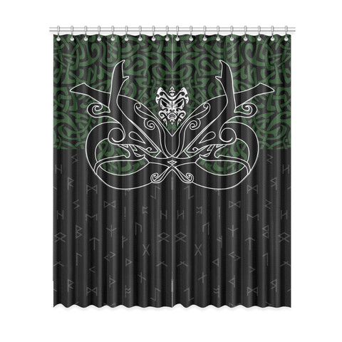 Image of 1stIceland Window Curtain, Celtics Dragon Tattoo Th00 - 1st Iceland