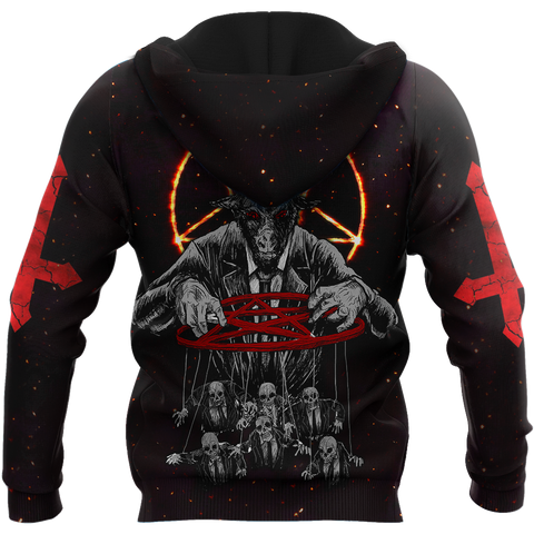 1stIceland Lord Of Death Skull Zip Hoodie TH12 - 1st Iceland