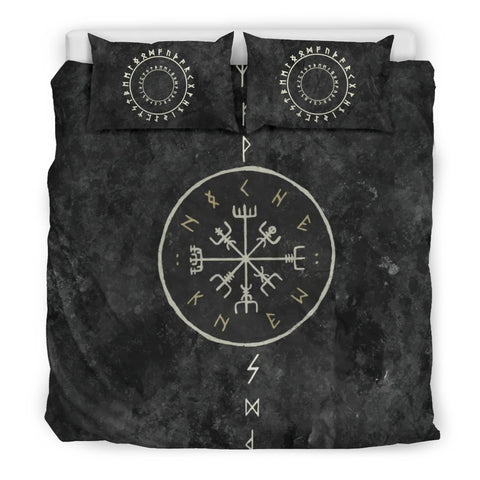 1stIceland Viking Bedding Set, Vegvisir Rune Circle BN04 - 1st Iceland