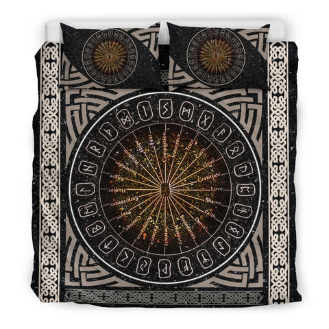 1stIceland Viking Bedding Set, Alchemy Rune Circle BN04 - 1st Iceland
