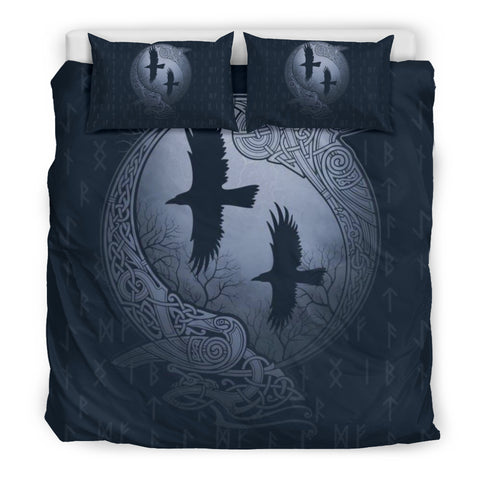 Image of 1stIceland Viking Bedding Set, Odin's Eye Ravens Rune NN8 - 1st Iceland