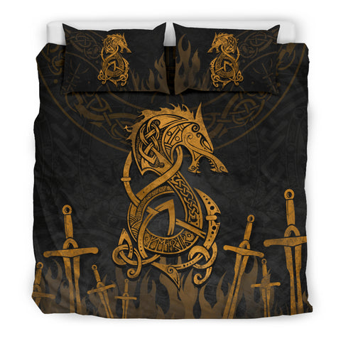 1stIceland Viking Bedding Set, Tyr's Fenrir Odin Sword TH00 - 1st Iceland