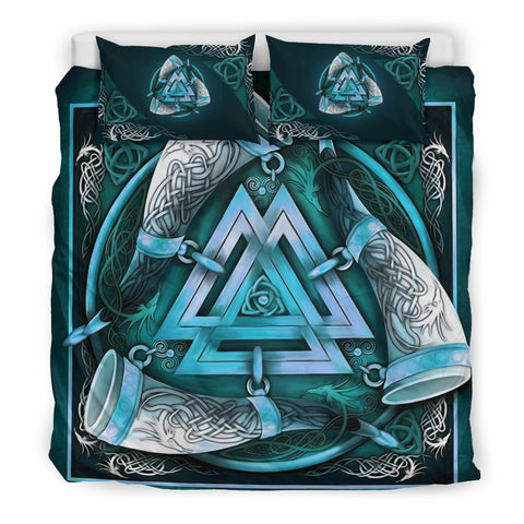 1stIceland Viking Bedding Set, Valknut Triskele Celtic Knot K7 - 1st Iceland