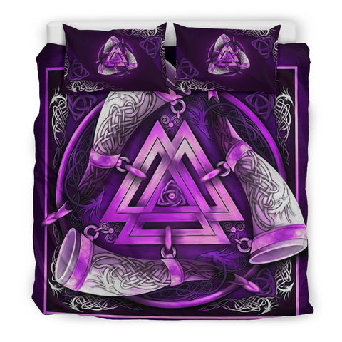 Image of 1stIceland Viking Bedding Set, Triskele Valknut Celtic Knot K7 - 1st Iceland