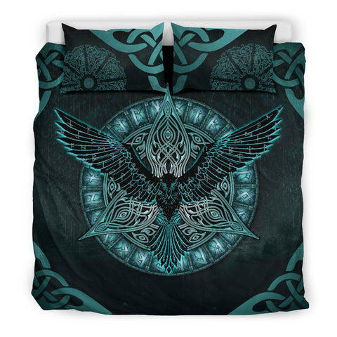 1stIceland Viking Bedding Set, Odin's Raven Rune Circle K7 - 1st Iceland