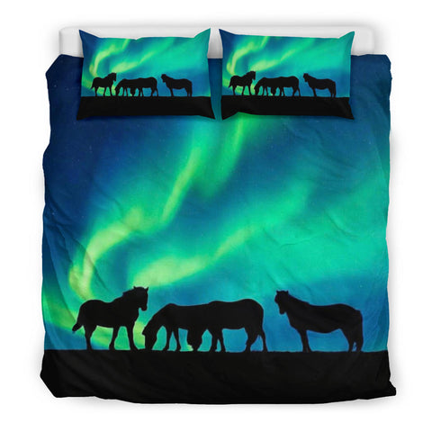 Aurora Icelandic Horse Bedding Set Northern Lights K4 - 1st Iceland
