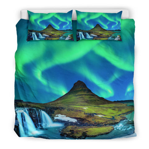 Image of Iceland Aurora Bedding Set Kirkjufell Mountain K4 - 1st Iceland