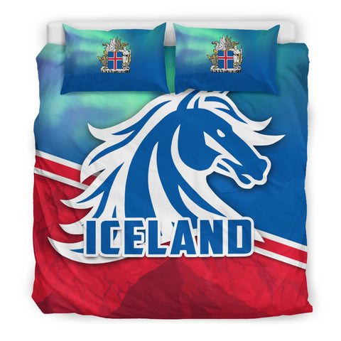 1stIceland Icelandic Horse Bedding Set Aurora Mountain K4 - 1st Iceland
