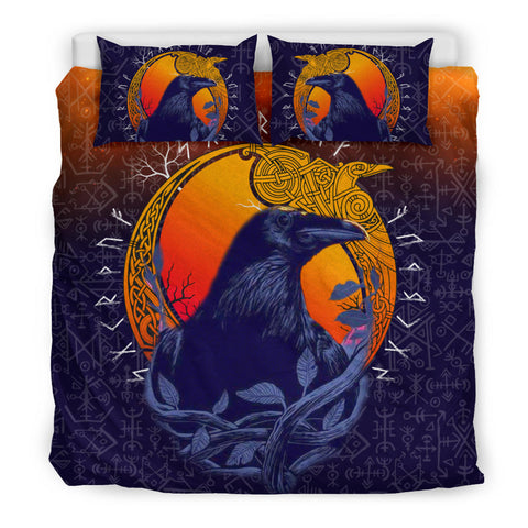 1stIceland Viking Raven And Moon Bedding Set TH12 - 1st Iceland
