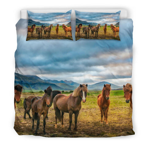 Image of Icelandic Horse Bedding Set Mountain Sky K4 - 1st Iceland