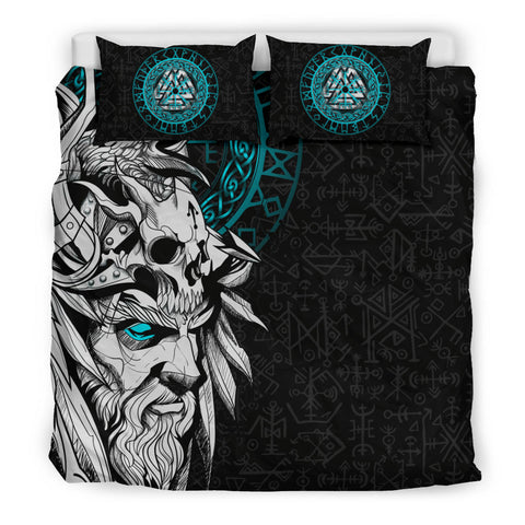1stIceland Viking Odin And Raven Turquoise Bedding Set TH12