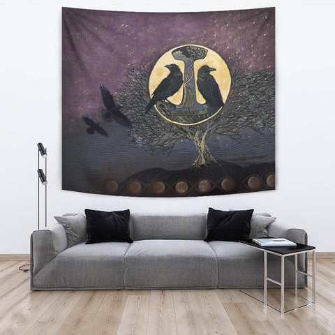 1stIceland Viking Tapestry, Raven And Tree Of Life K5 - 1st Iceland