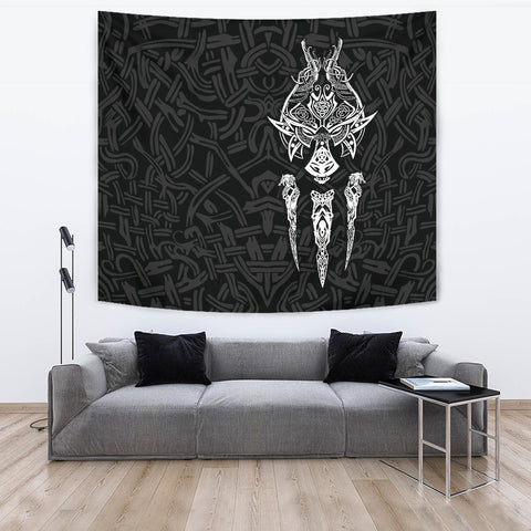 1stIceland Viking Tapestry, Fenrir The Vikings Wolves Th00 Black - 1st Iceland