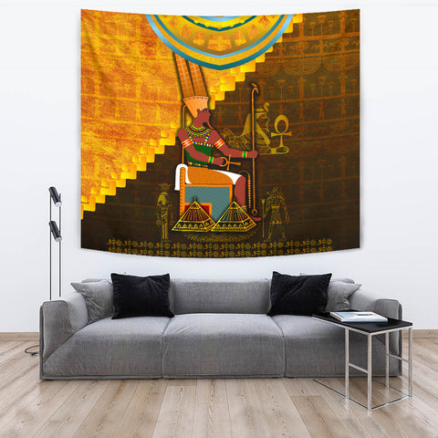 1stIceland Amun Tapestry Egyptian God K8 - 1st Iceland