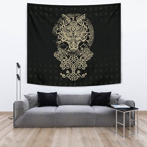 1stIceland Viking Wolf Fenrir Tapestry TH12 - 1st Iceland