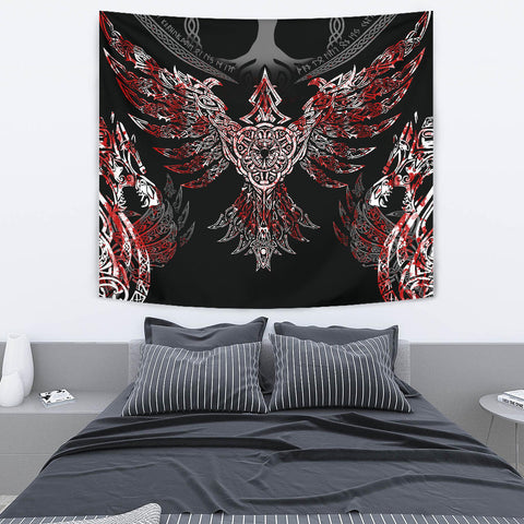 1stIceland Viking Tapestry, Raven Th00 - 1st Iceland