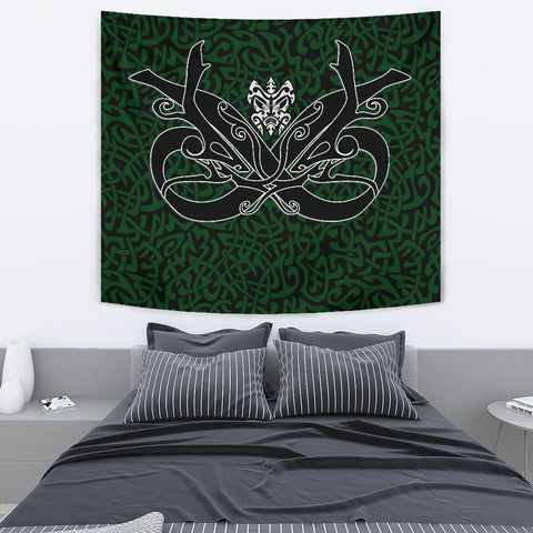 1stIceland Celtic Tapestry, Celtics Dragon Tattoo Th00 - Green - 1st Iceland