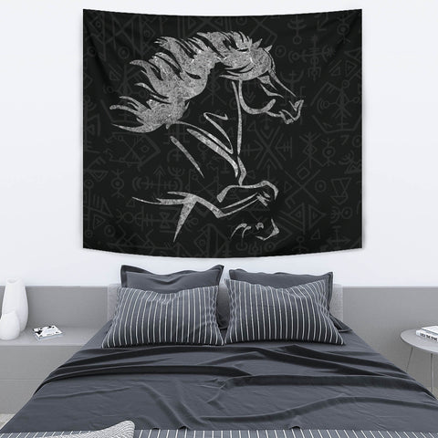 1stIceland Viking Tapestry, Icelandic Horse Coat Of Arms K4 - 1st Iceland