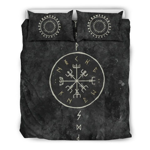 Image of 1stIceland Viking Bedding Set, Vegvisir Rune Circle BN04 - 1st Iceland