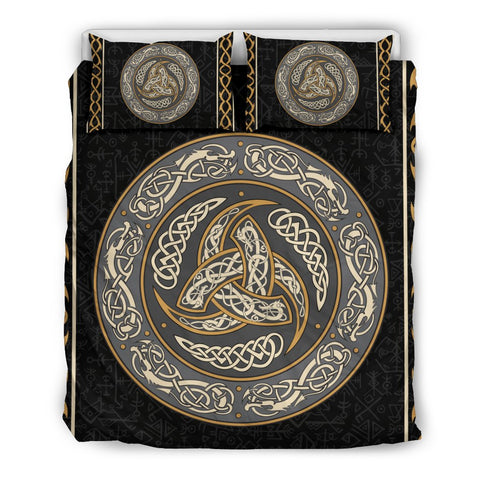 Image of 1stIceland Viking Bedding Set, Triskele Celtic Knot Rune NN8 - 1st Iceland