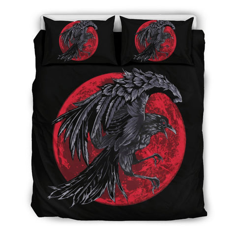 1stIceland Viking Bedding Set, Ragnar's Raven Red Moon NN8 - 1st Iceland