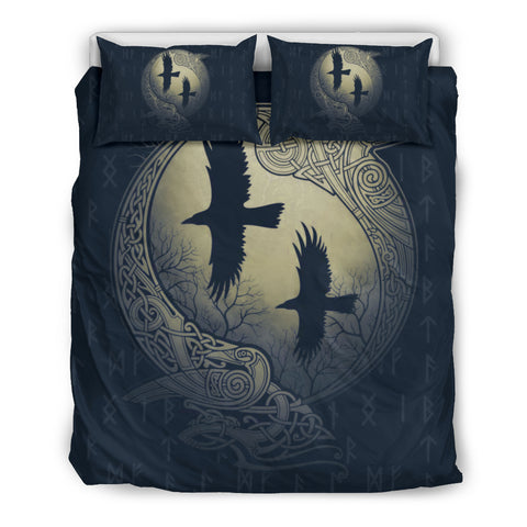 Image of 1stIceland Viking Bedding Set, Odin's Eye Raven Rune NN8 - 1st Iceland