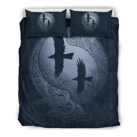 1stIceland Viking Bedding Set, Odin's Eye Ravens Rune NN8 - 1st Iceland